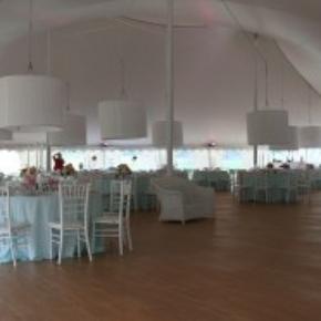 Floor at a tent wedding