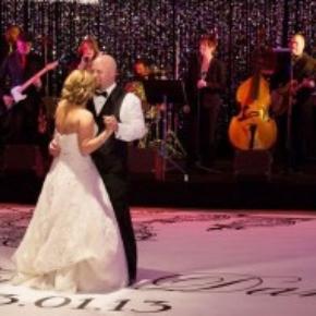 Perfect wedding portable dance floor slate white