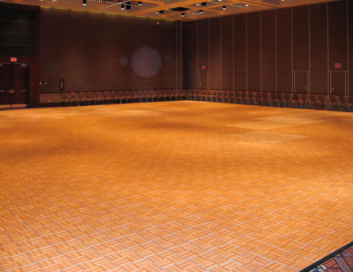 hotel ballroom oak portable dance floor
