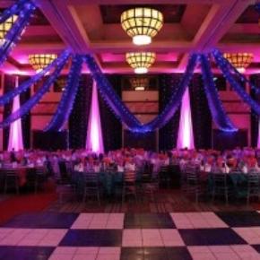luxury black and white portable dance floor for weddings