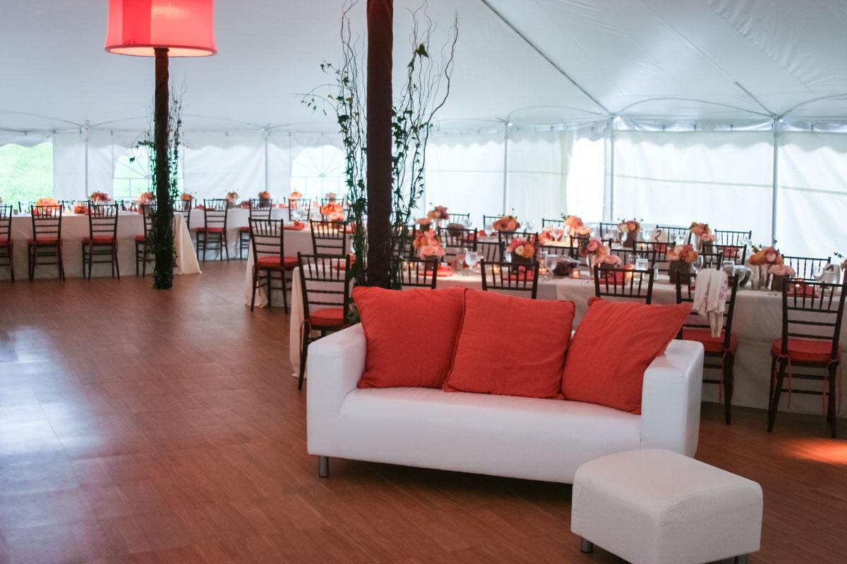 Maple Dance Floor at a tent event & Maple Dance Floor - SnapLock Dance Floors