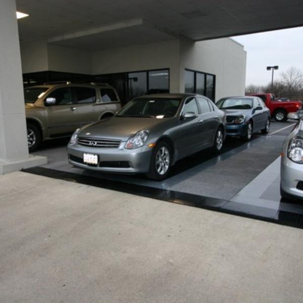 Snap-Carpet tiles at a car dealership