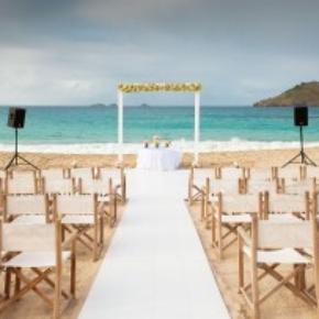 Portable Dance Floor St. Kitts tropical wedding