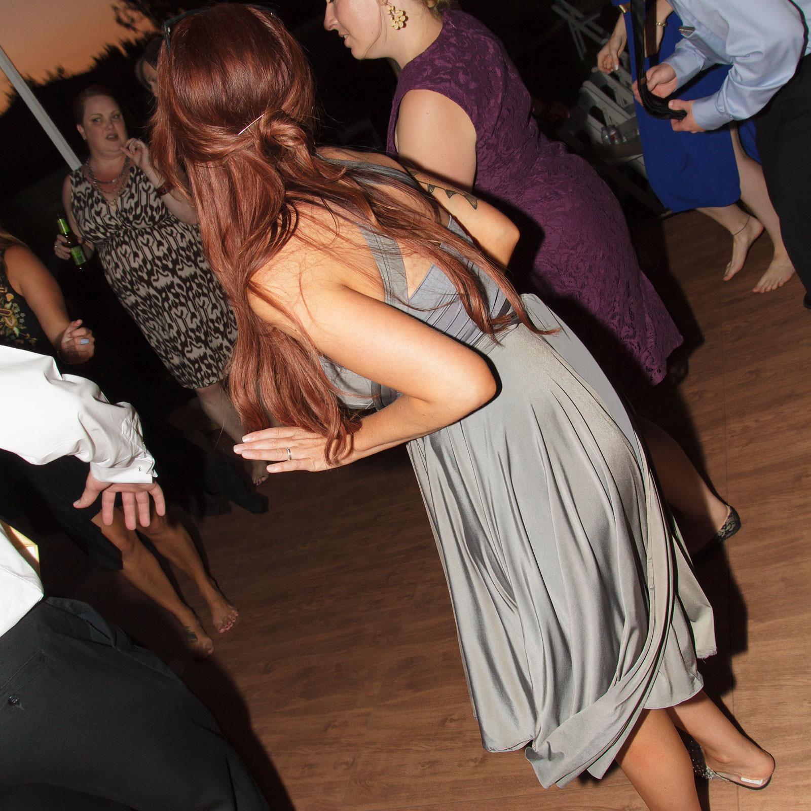 Dance floor at a wedding