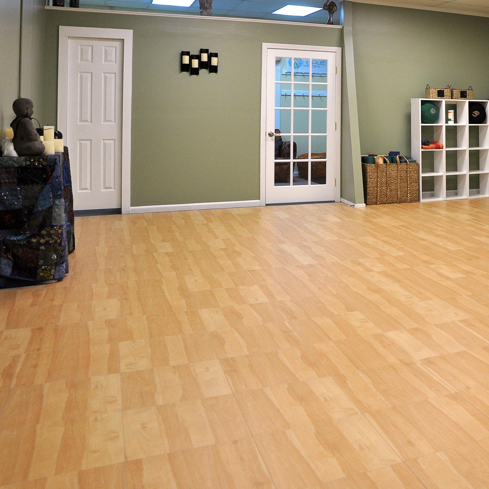 Maple XL flooring used in a yoga studio