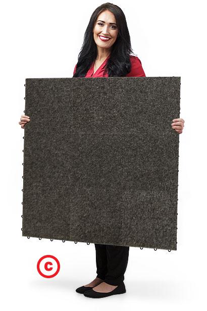 SnapLock Snap-Carpet flooring panel